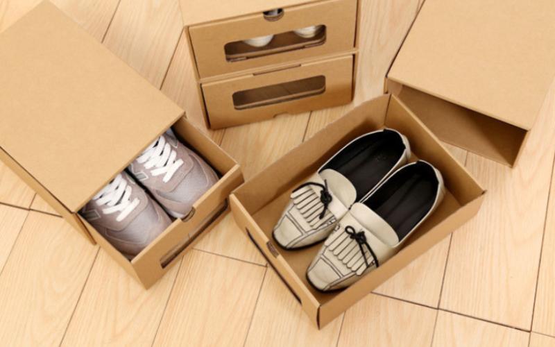 多功能牛皮紙鞋盒-牛皮紙案例
