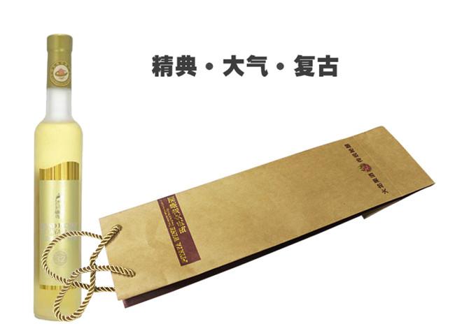 伽立纸业进口牛卡纸玛氏果酒牛皮纸手提袋包装