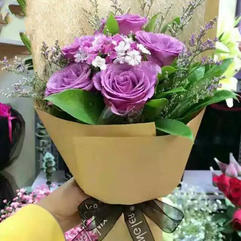 牛皮纸包鲜花给您不一样的感受