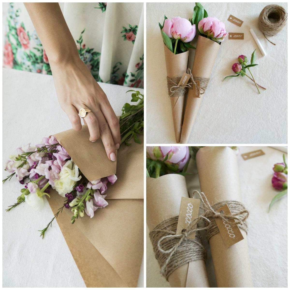 牛皮纸包装鲜花