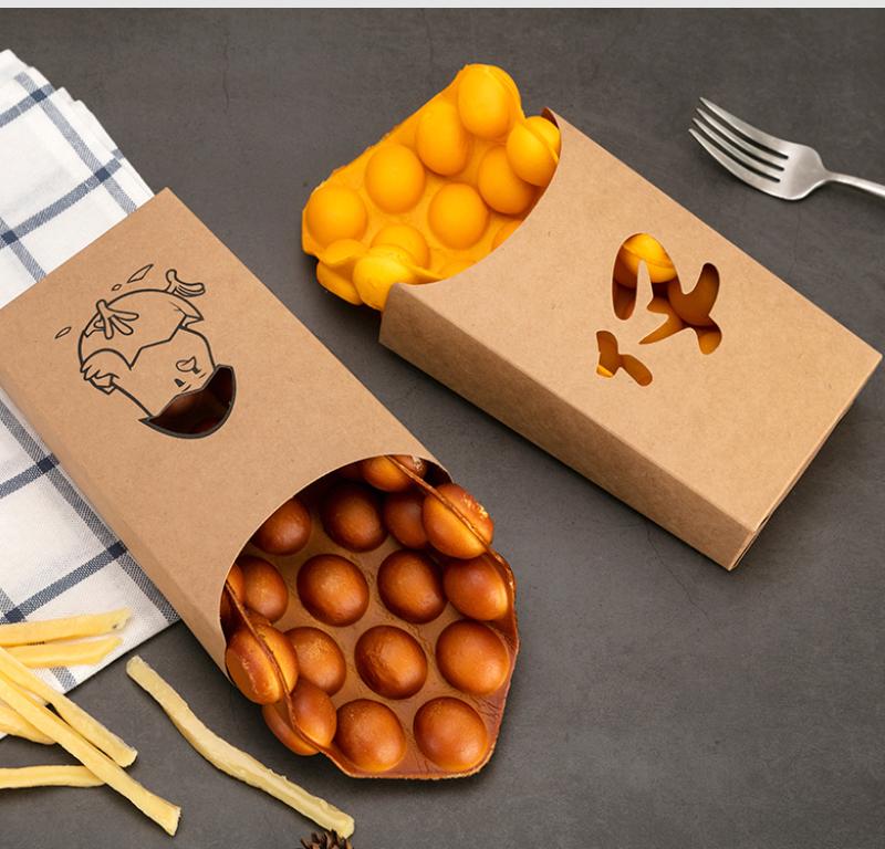 牛皮纸鸡蛋仔纸盒包装应用案例